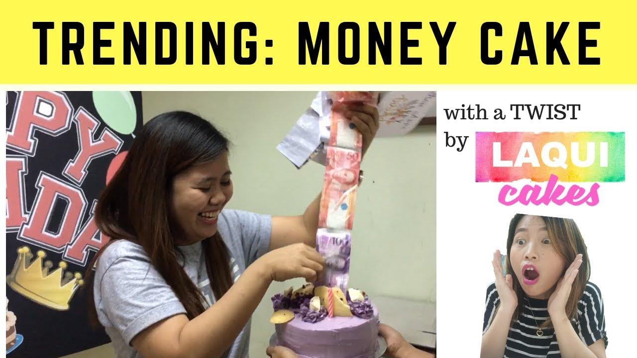 How To Make Money Cake Cake Decorating Philippines Laqui Cakes