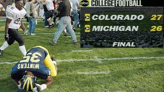 The Miracle at Michigan 🙌🏼 Most heart-breaking loss in CFB HISTORY!