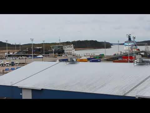 Tallink Silja Galaxy leaving from Port of Turku 17.5.2017