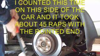 HOW TO REMOVE RUSTED ROTOR BRAKE ROTOR
