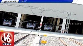 Hyderabad Metro rail performs it's 2nd trail run between Miyapur and KPHB (08-05-2015)