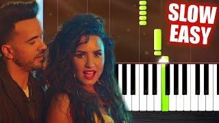 Luis Fonsi Demi Lovato chame La Culpa - SLOW EASY Piano Tutorial by PlutaX.mp3