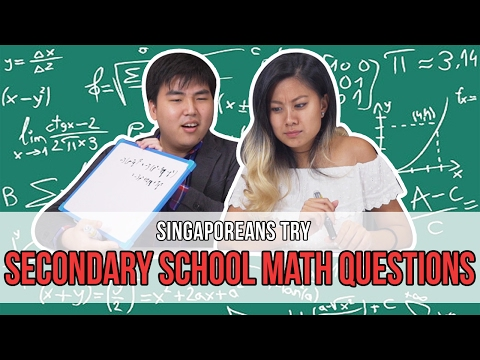 Singaporeans Try: Secondary School Math Questions | EP 88