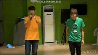 130718 SEVENTEEN TV Seokmin + Seunggwan singing