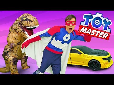 Видео шоу - Той Мастер и Динозавр Юрского периода! - Видео игры с Трансформерами.