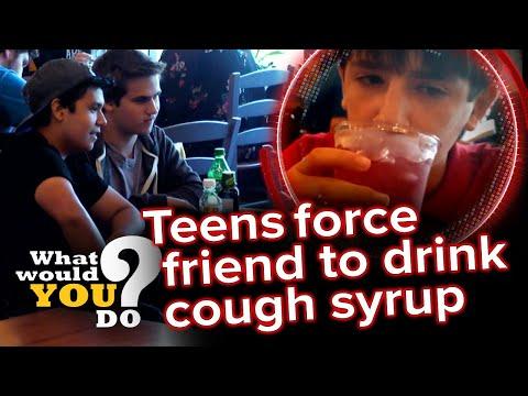 Teens peer pressure friend to abuse cough syrup   WWYD?