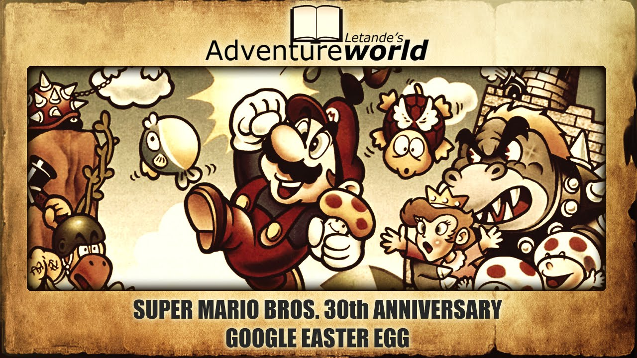 Google Celebrates The 30th Anniversary of Super Mario Bros. with This Easter Egg