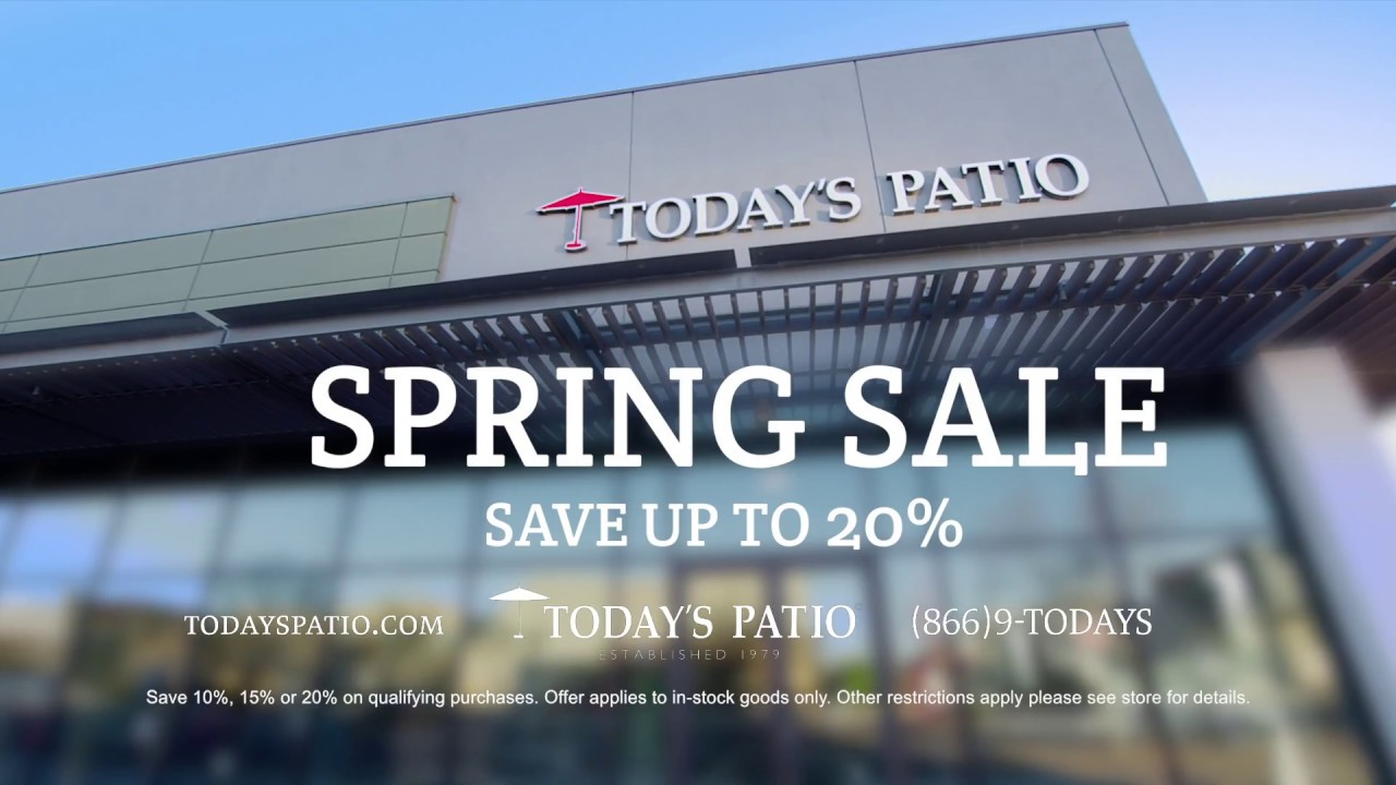 Todays Patio Spring Sale 2018