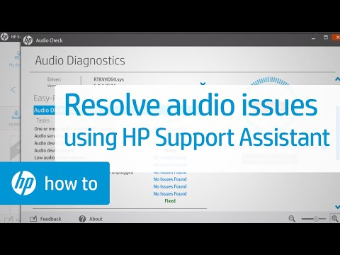 How to Resolve Audio Issues Using HP Support Assistant | HP Computers | HP