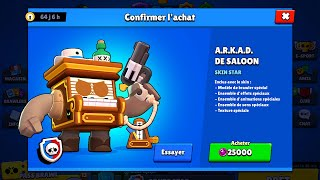 J'achète ARKAD SALOON à 25000 points star sur BRAWL STARS!