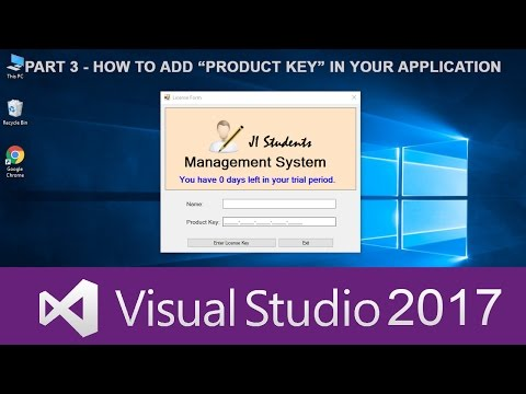 3) C# Tutorials In Urdu - How to Add Product Key functionality to your applications
