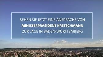 Ansprache von Ministerpräsident Kretschmann zur Lage in Baden-Württemberg