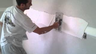 How To Coat Recessed Drywall Flat Joints With A Hawk And Trowel