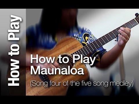"""How to Play """"Maunaloa"""" (Taro patch or open G tuning)Ki ho"""