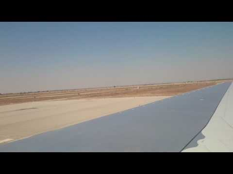 Departing flight from Enfidha Airport, Tunisia
