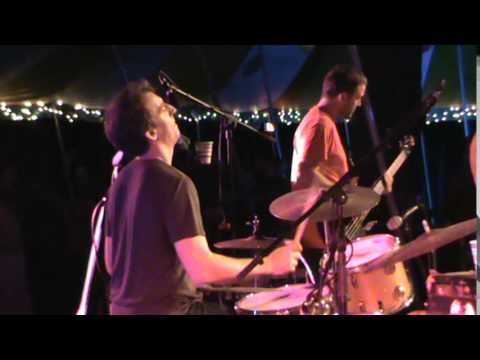 Donna The Buffalo with Preston Frank in the dance tent Oct 10 2014