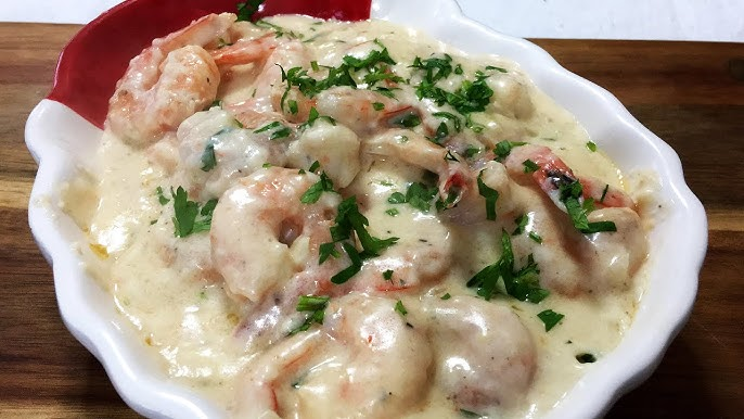 Langostinos Cremosos Con Ajo Y Parmesano Creamy Prawns With Garlic And Parmesan Youtube