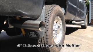 diamond eye 4 exhaust with muffler install before after sound