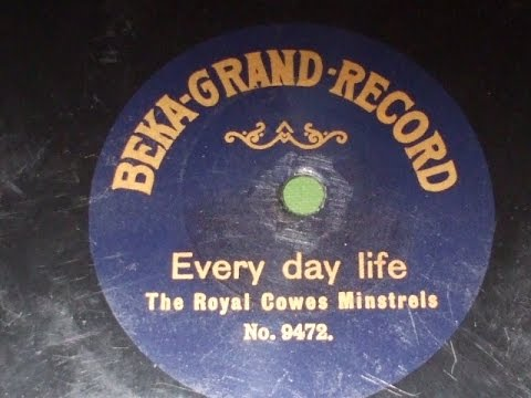 "Rare Labels No 30 ""Every Day Life"" Royal Cowes Minstrels S/S Beka Grand  9472"