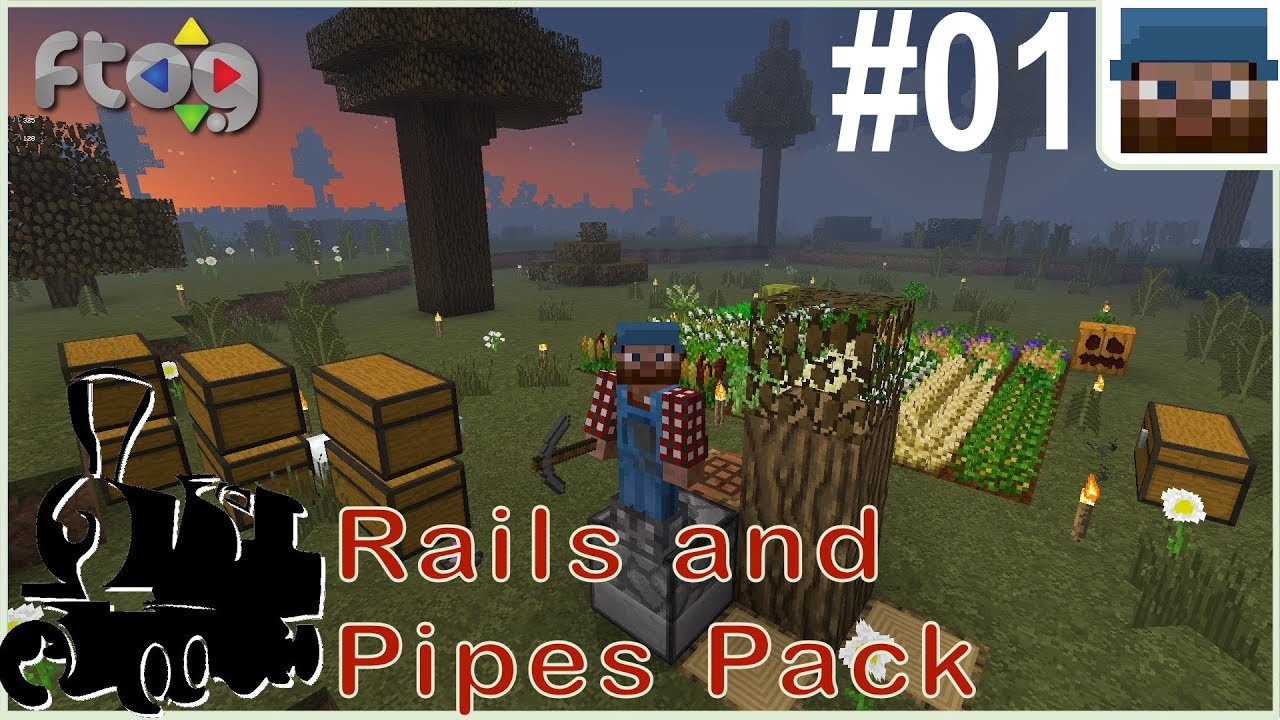 Rails and Pipes Pack #01 - Your Ravine or Mine? - Minecraft 1 12 2 Let's  Play