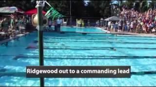 Ridgewood wins the 8 & under boys medley relay
