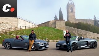 Audi R8 Spyder vs Mercedes-AMG SL 63 | Comparativa | Prueba / Test / Review en español | Coches.net