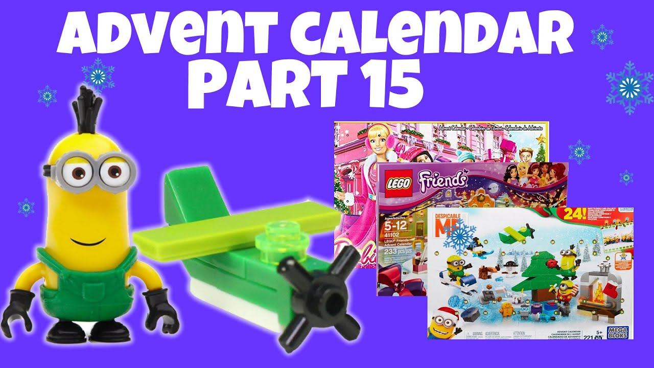 mega bloks minions lego friends barbie holiday advent. Black Bedroom Furniture Sets. Home Design Ideas