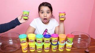 تحدي لا تختار صلصال السلايم الخاطئ !!! Don't choose the wrong play doh slime challenge