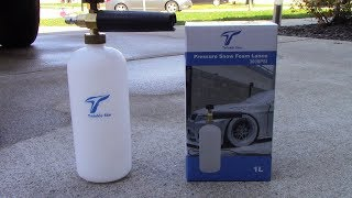 Twinkle Star Foam Cannon with Pressure Washer Tips unboxing and first use!