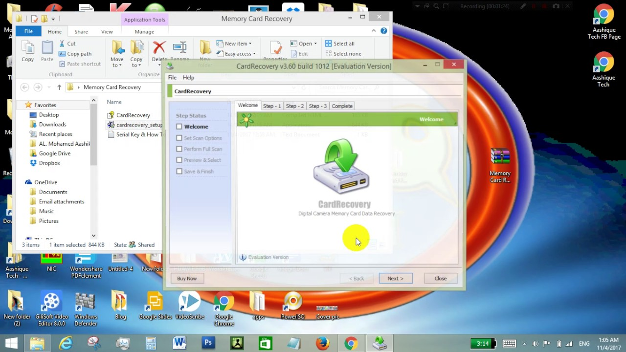 memory card recovery software registration key