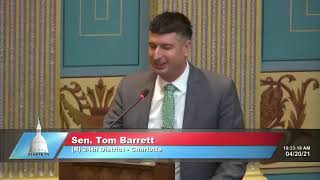 Sen. Barrett addresses Senate on National Guard meal funding