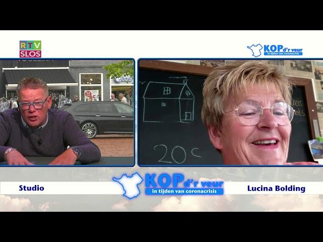 Lucina Bolding in de uitzending van Kop d'r Veur op 1 juli 2020