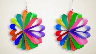 Paper Christmas Decorations - Multi Colored Hanging Paper Circle for Christmas Party Decor