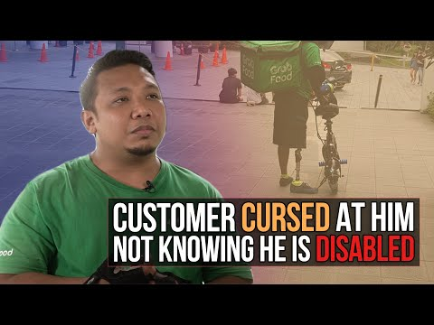Customer cursed at him not knowing he is disabled