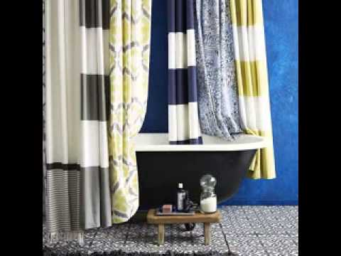 Bathroom shower curtain design ideas