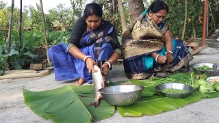 Full Bengali Village Style Recipe / Fish Light Jhol and Palong Sak Recipe