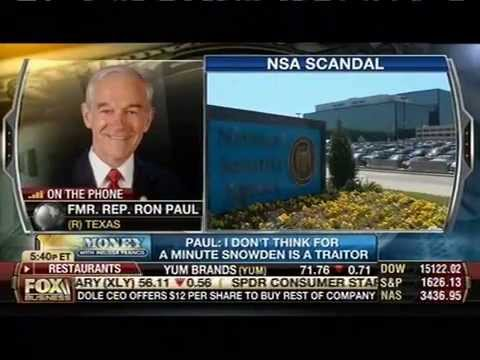 Ron Paul 'Worried' U.S. Might Kill Snowden With Drone: 'I Don't Think For A Minute He's A Traitor'