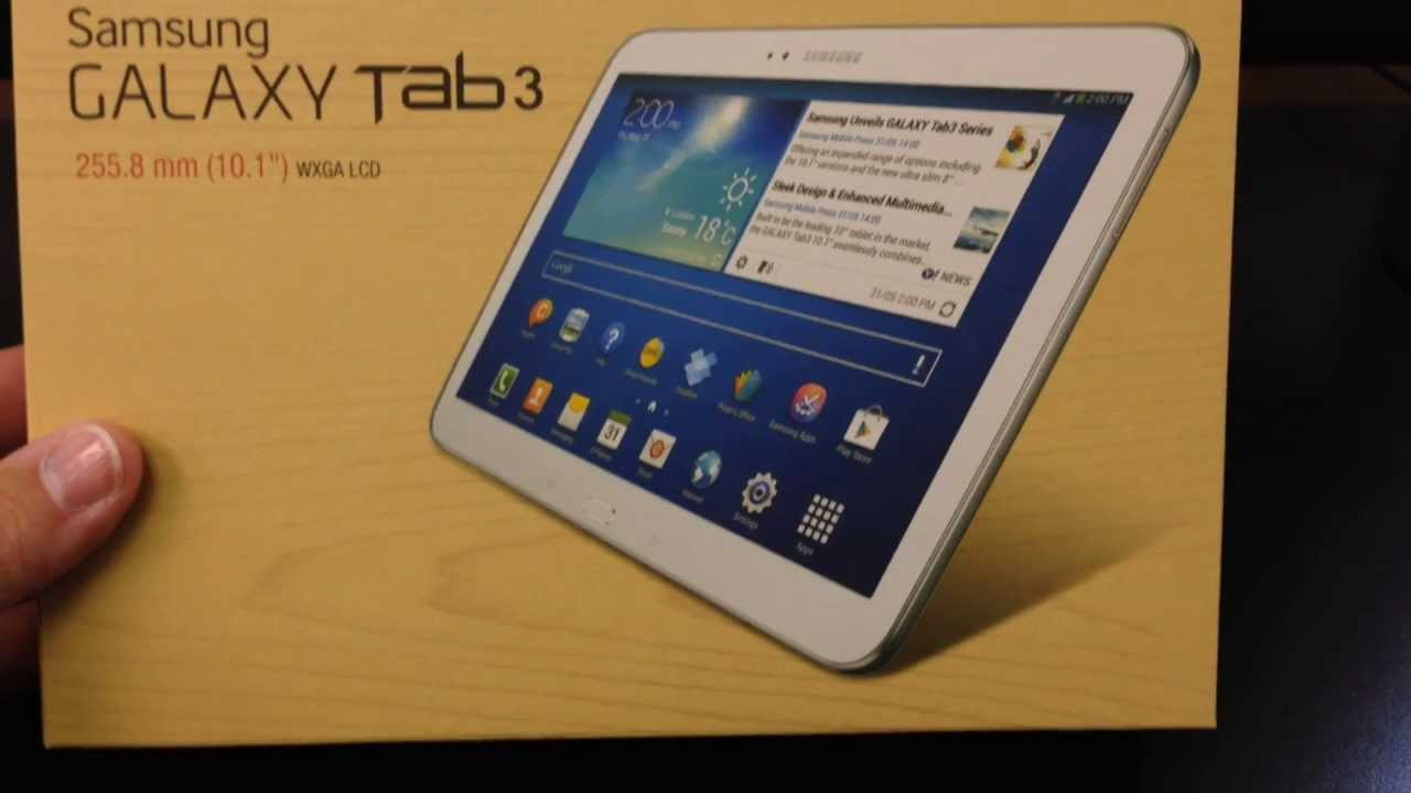 samsung p5200 galaxy tab 3 10 1 3g unboxing video tablet. Black Bedroom Furniture Sets. Home Design Ideas