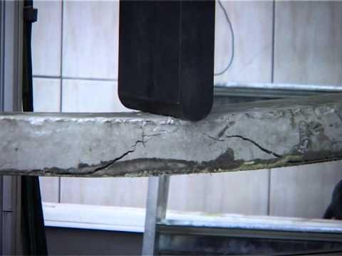 Видео испытаний балок и призм