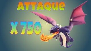 Attaque avec 750 dragons ! | Clash of Clans | Serveur privé