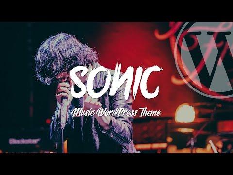 Sonic - Premium WordPress Theme for the Music Industry