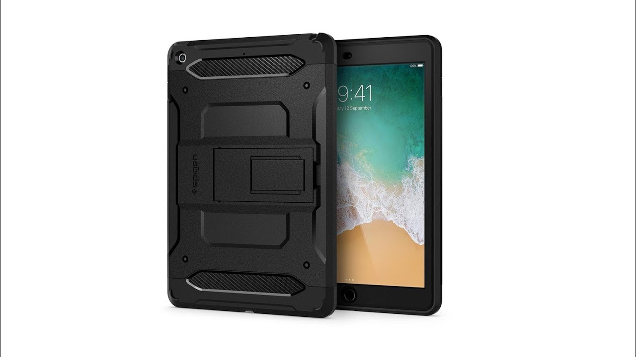 uk availability 99d21 87cb2 Spigen Tough Armor Tech iPad 2017 Case Unboxing (UK)