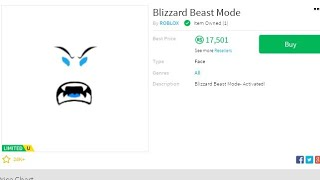 #Roblox #Trading erhalten Blizzard Beast-Modus (32.000 Wert) Roblox Trading