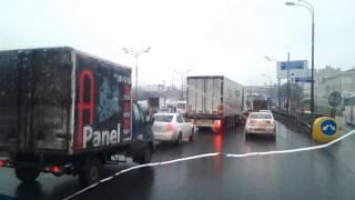 Авария 6.30 утра МКАД внешка 25 км