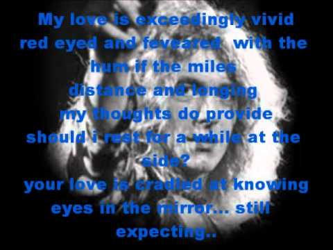 Robert Plant- Big Log Lyrics