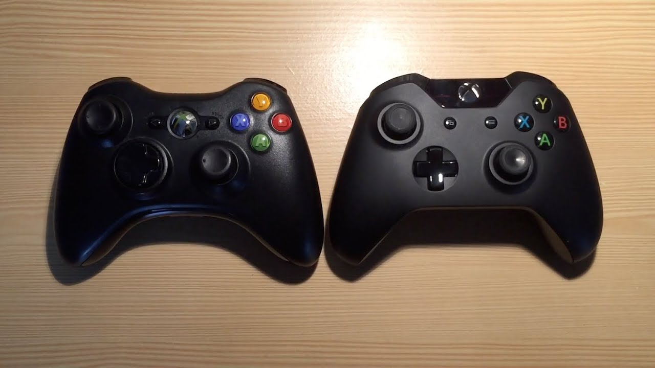 comparatif manette xbox one vs xbox 360 youtube. Black Bedroom Furniture Sets. Home Design Ideas