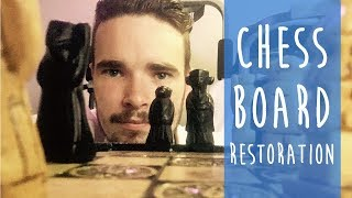 ASMR - Chess Board Restoration & How To Play - Whisper, Soft Spoken, Tapping