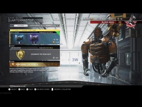 5 pack bundle plus legendary drop + Legendary rig head hack opening |