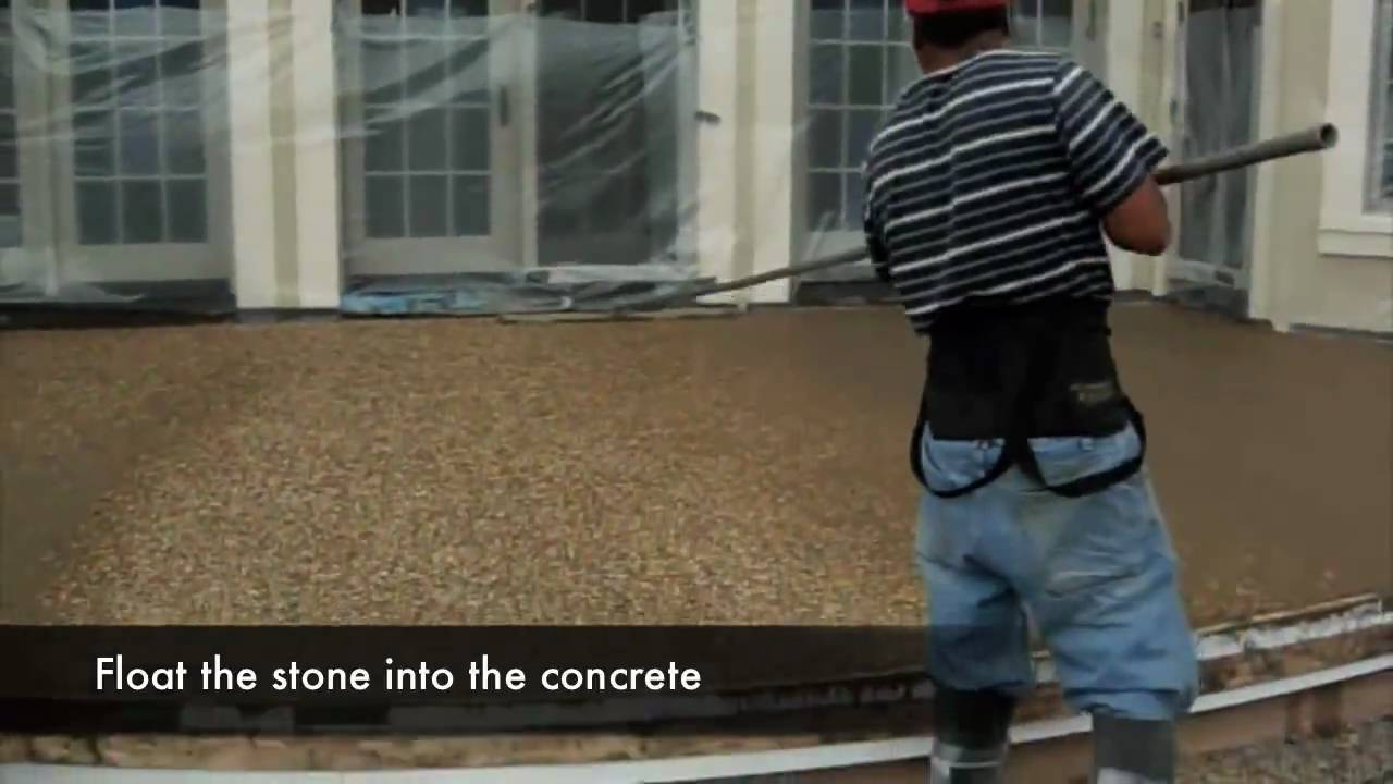 Sealing exposed aggregate pool deck - Exposed Aggregate Pool Deck Patio In Ma Triad Associates Inc Youtube