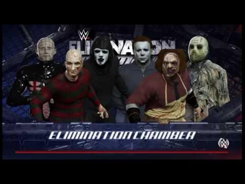Freddy Vs Jason Vs Chucky Vs Michael Myers Vs Pinhead WWE 2K16 Jason vs Fred...